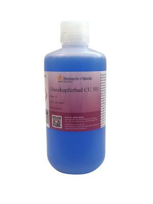 Glanzkupferbad CU 501 ✓ sauer, gebrauchsfertig ✓ (1l Elektrolyt)